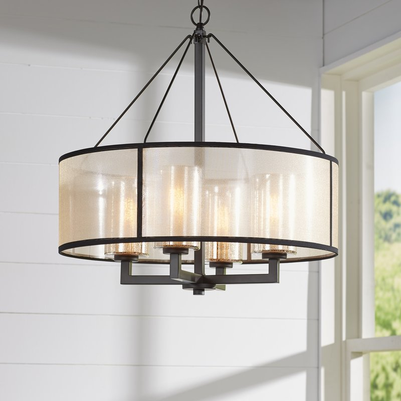 Burton 5 Light Drum Chandeliers Intended For Popular Dailey 4 Light Drum Chandelier (View 7 of 25)