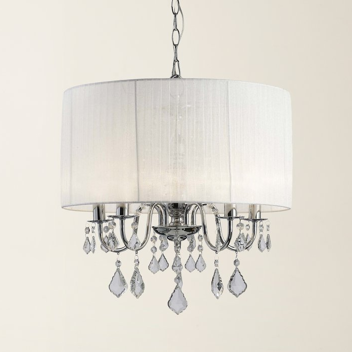 Buster 5 Light Drum Chandelier For Well Known Lindsey 4 Light Drum Chandeliers (View 5 of 25)