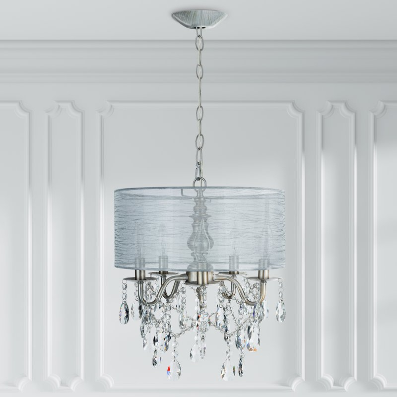 Buster 5 Light Drum Chandeliers In Preferred Flemington 5 Light Chandelier (View 23 of 25)