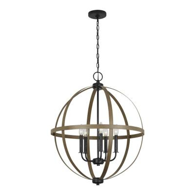 Buster 5 Light Drum Chandeliers Inside Well Known Brown – Chandeliers – Lighting – The Home Depot (View 15 of 25)