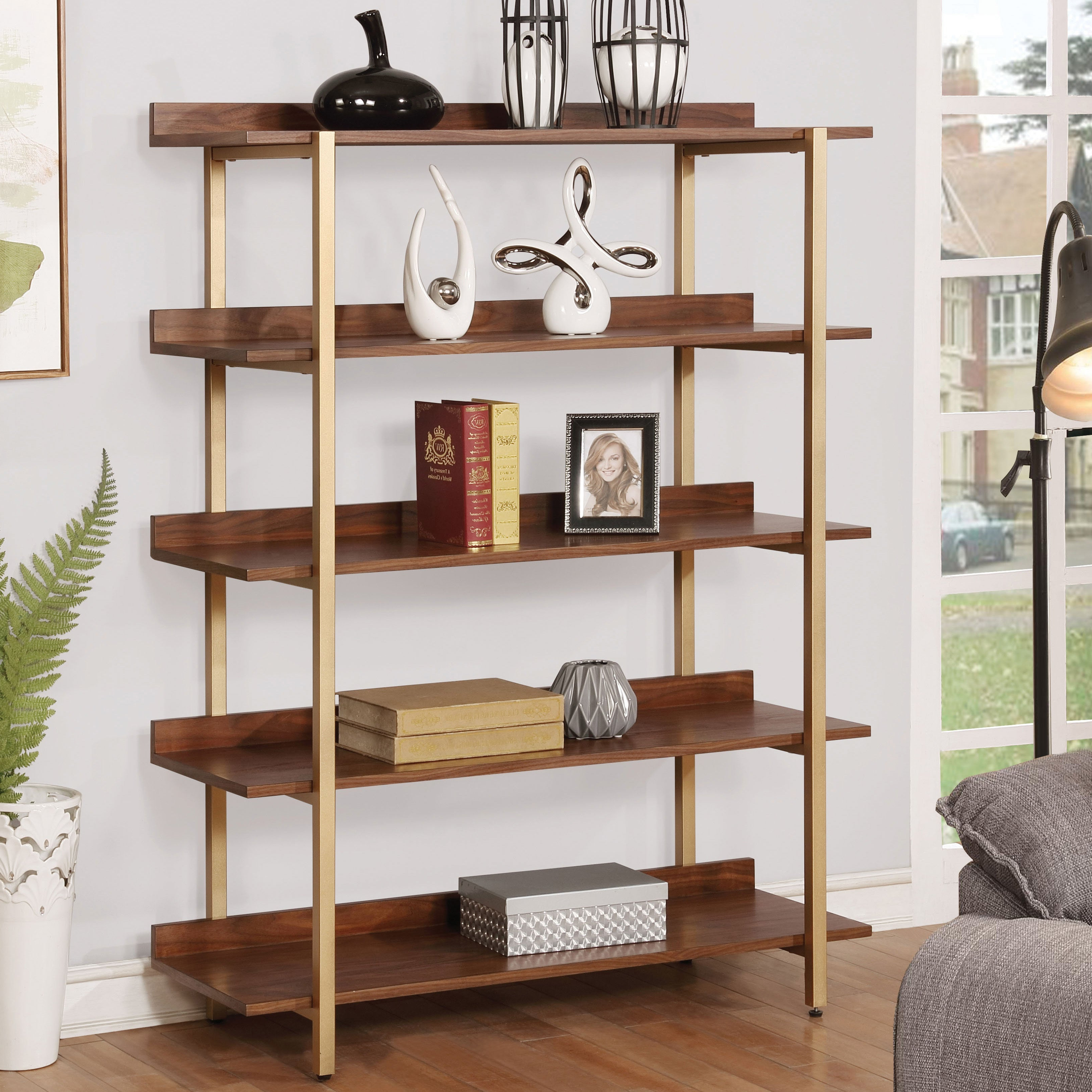 Buy Etagere Bookshelves & Bookcases Online At Overstock Inside Fashionable Moskowitz Ladder Bookcases (Gallery 11 of 20)