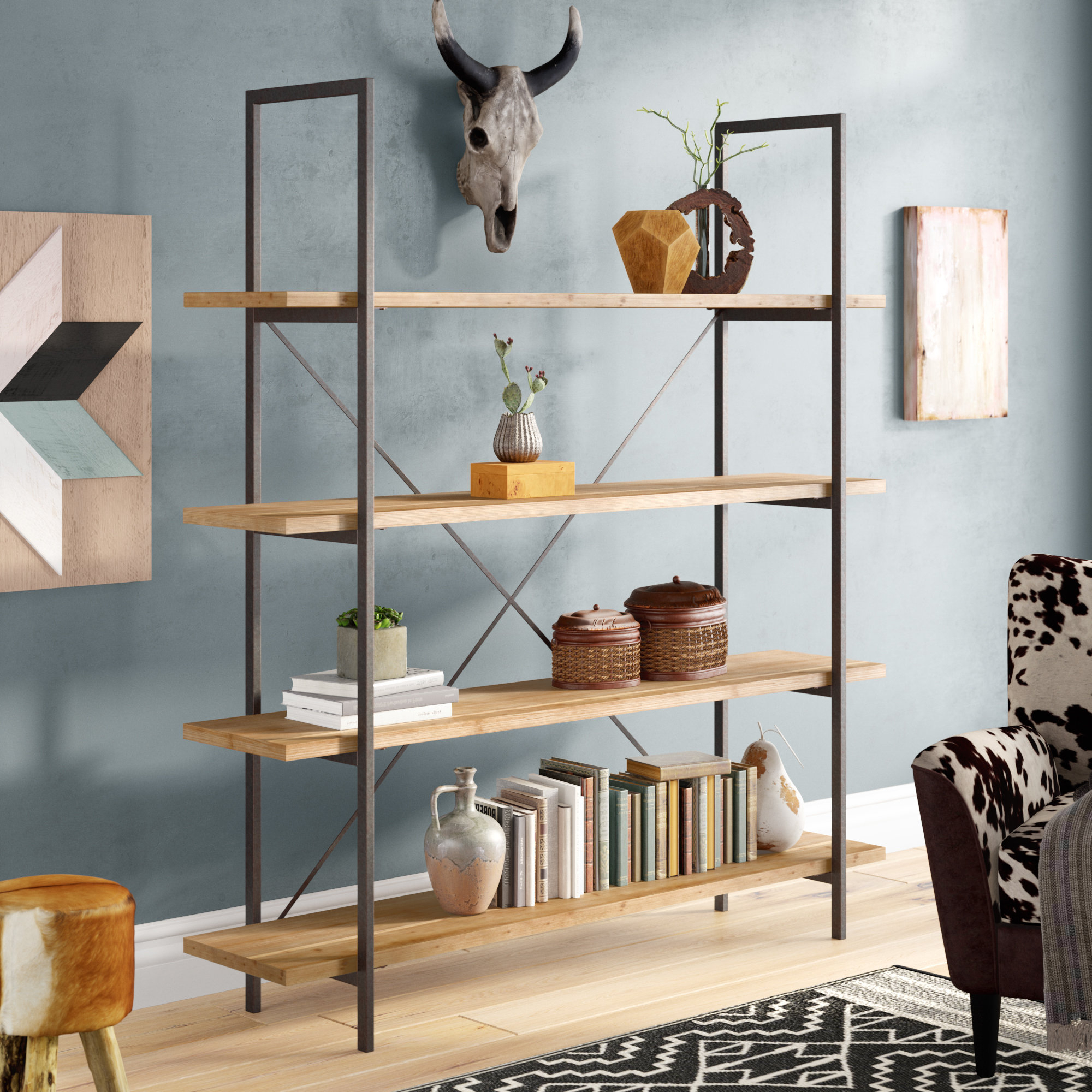 Caitlyn Etagere Bookcase Intended For Most Recently Released Swindell Etagere Bookcases (View 19 of 20)