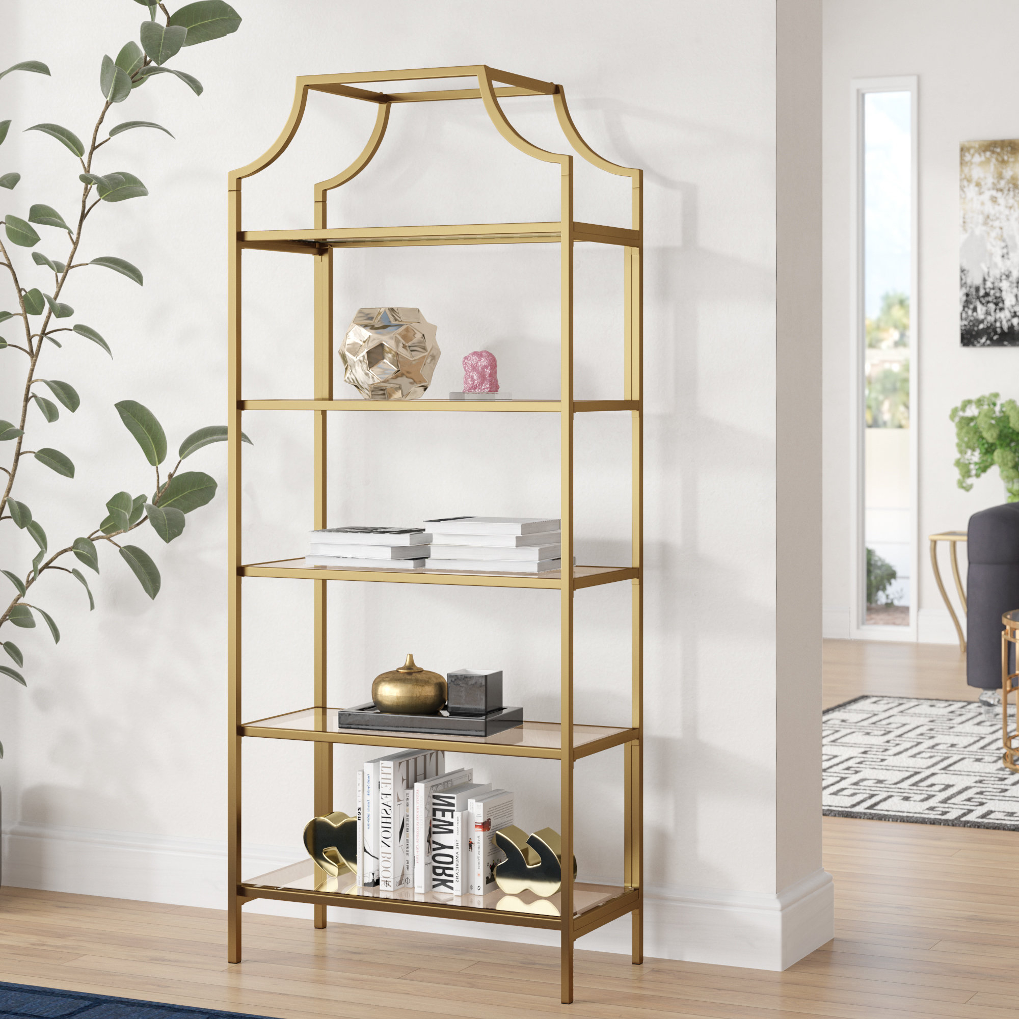Caldwell Etagere Bookcases In 2020 Mistana Damon Etagere Bookcase & Reviews (View 11 of 20)