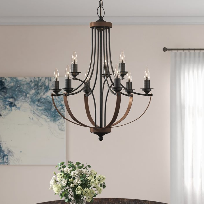 Camilla 9 Light Candle Style Chandelier Intended For Well Known Giverny 9 Light Candle Style Chandeliers (View 20 of 25)
