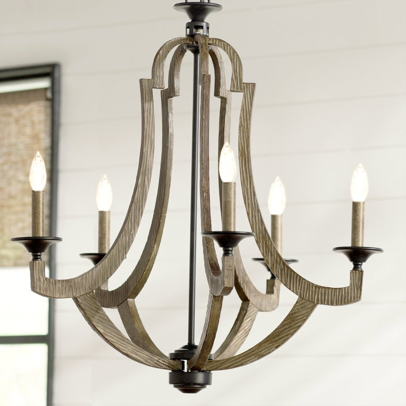 Camilla 9 Light Candle Style Chandeliers With Regard To Recent Marcoux 5 Light Empire Chandelier (View 11 of 25)