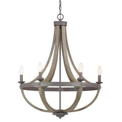 Candle Style – Chandeliers – Lighting – The Home Depot In Best And Newest Bennington 6 Light Candle Style Chandeliers (View 9 of 25)
