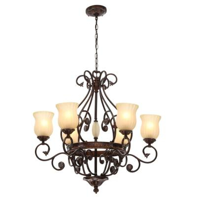 Candle Style – Chandeliers – Lighting – The Home Depot In Fashionable Aldora 4 Light Candle Style Chandeliers (Gallery 14 of 25)