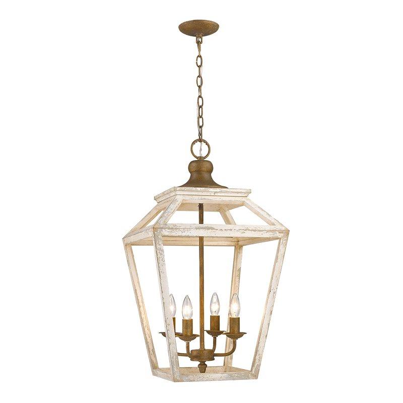 Carmen 4 Light Lantern Geometric Pendants Within Fashionable Baugher 4 Light Lantern Geometric Pendant (View 11 of 25)