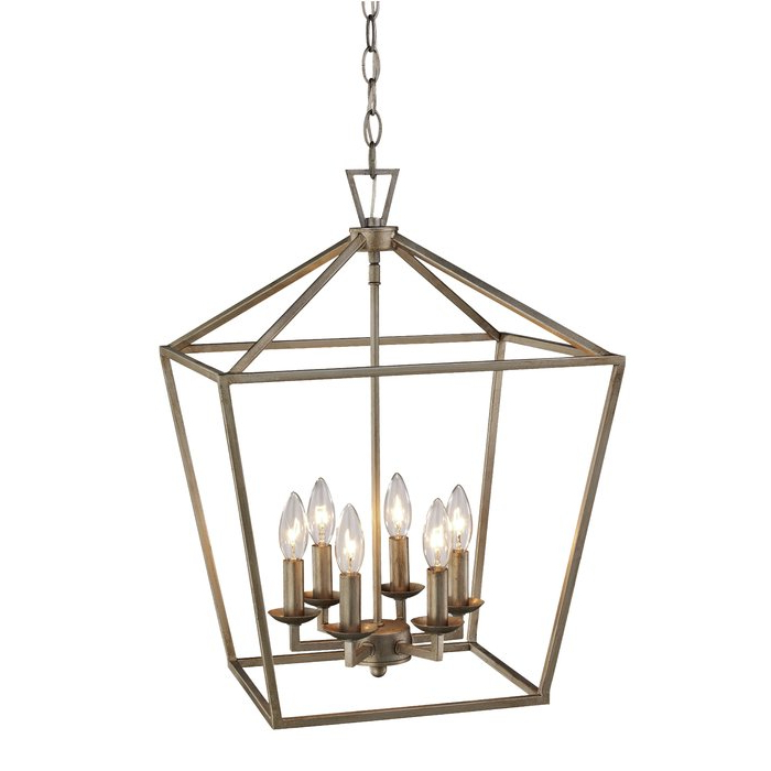 Carmen 6 Light Lantern Geometric Pendant Intended For Best And Newest Carmen 8 Light Lantern Geometric Pendants (View 4 of 25)