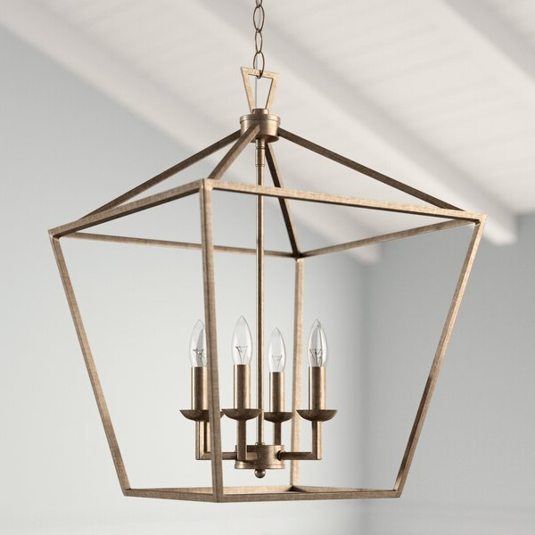 Carmen 6 Light Lantern Geometric Pendant Within Most Popular Louanne 3 Light Lantern Geometric Pendants (View 4 of 25)