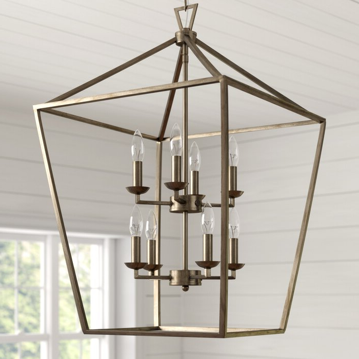 Carmen 8 Light Lantern Geometric Pendant Intended For Most Up To Date Carmen 8 Light Lantern Geometric Pendants (View 7 of 25)