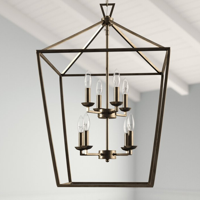 Carmen 8 Light Lantern Geometric Pendant With Popular Carmen 8 Light Lantern Geometric Pendants (View 9 of 25)