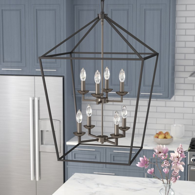 Carmen 8 Light Lantern Geometric Pendants Pertaining To Recent Carmen 8 Light Lantern Pendant (Gallery 9 of 25)