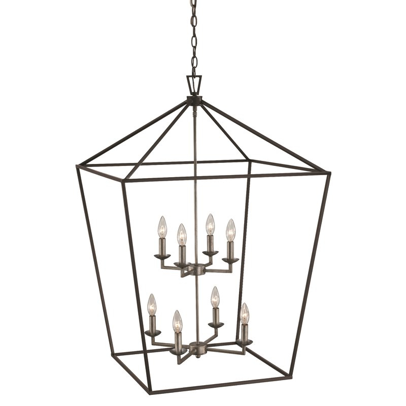 Carmen 8 Light Lantern Pendant With Most Current Carmen 8 Light Lantern Geometric Pendants (View 15 of 25)