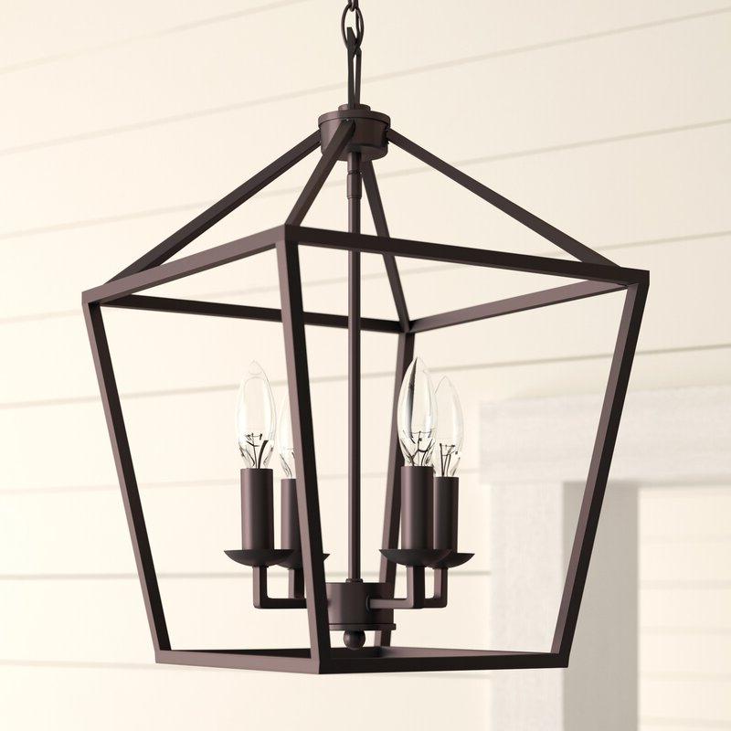 Carmen 8 Light Lantern Tiered Pendants For Popular Carmen 4 Light Lantern Geometric Pendant (Gallery 18 of 25)