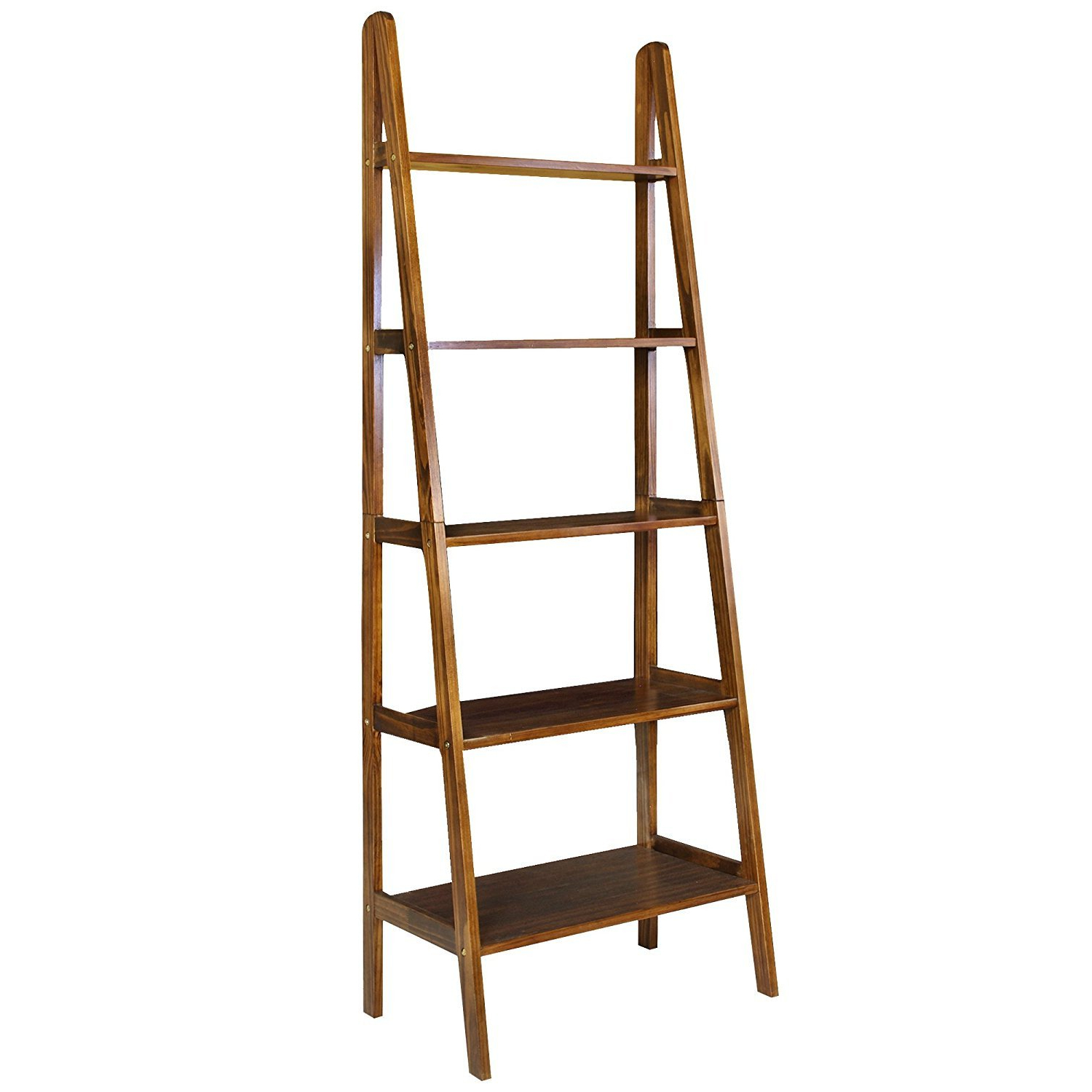 Casual Home 5 Shelf Ladder Bookcase Espresso – 176 53 Pertaining To Newest Nailsworth Ladder Bookcases (View 5 of 20)