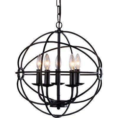 Catskill 5 Light Globe Chandelier (View 3 of 25)