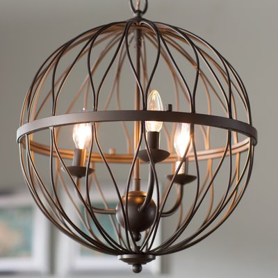 Cavanagh 4 Light Geometric Chandelier (View 15 of 25)