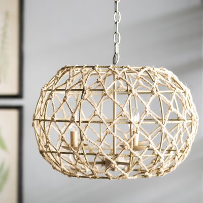 Cavanagh 4 Light Geometric Chandelier (View 10 of 25)