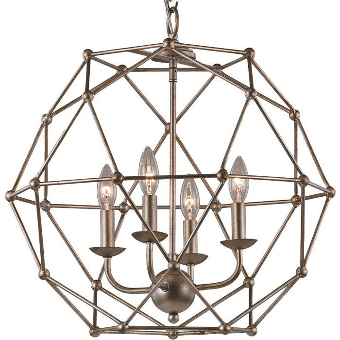 Cavanagh 4 Light Geometric Chandeliers In Most Up To Date Cavanagh 4 Light Geometric Chandelier (View 8 of 25)
