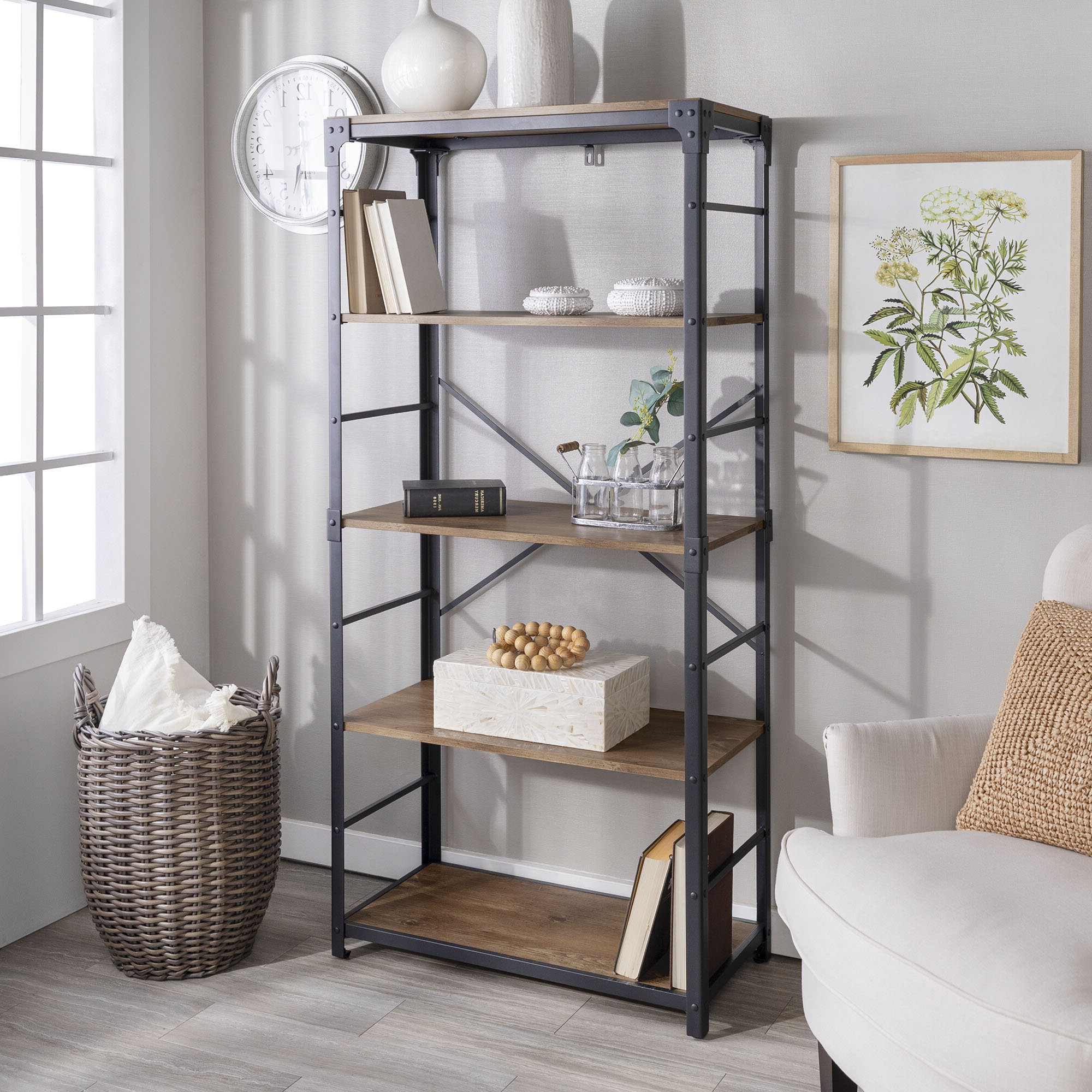 Cecelia Etagere Bookcase & Reviews (View 10 of 20)
