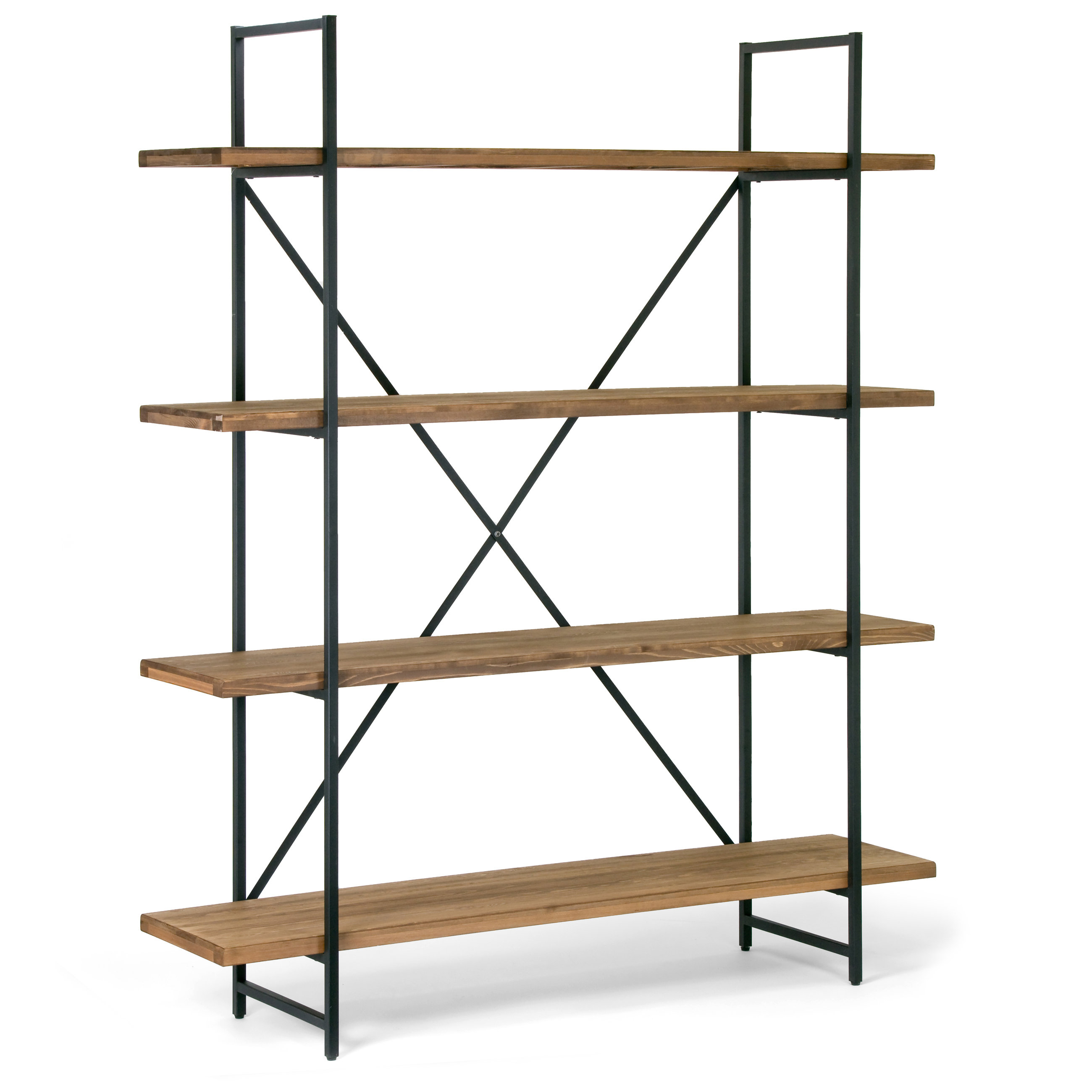 Champney Modern Etagere Bookcase Within Preferred Caitlyn Etagere Bookcases (View 8 of 20)