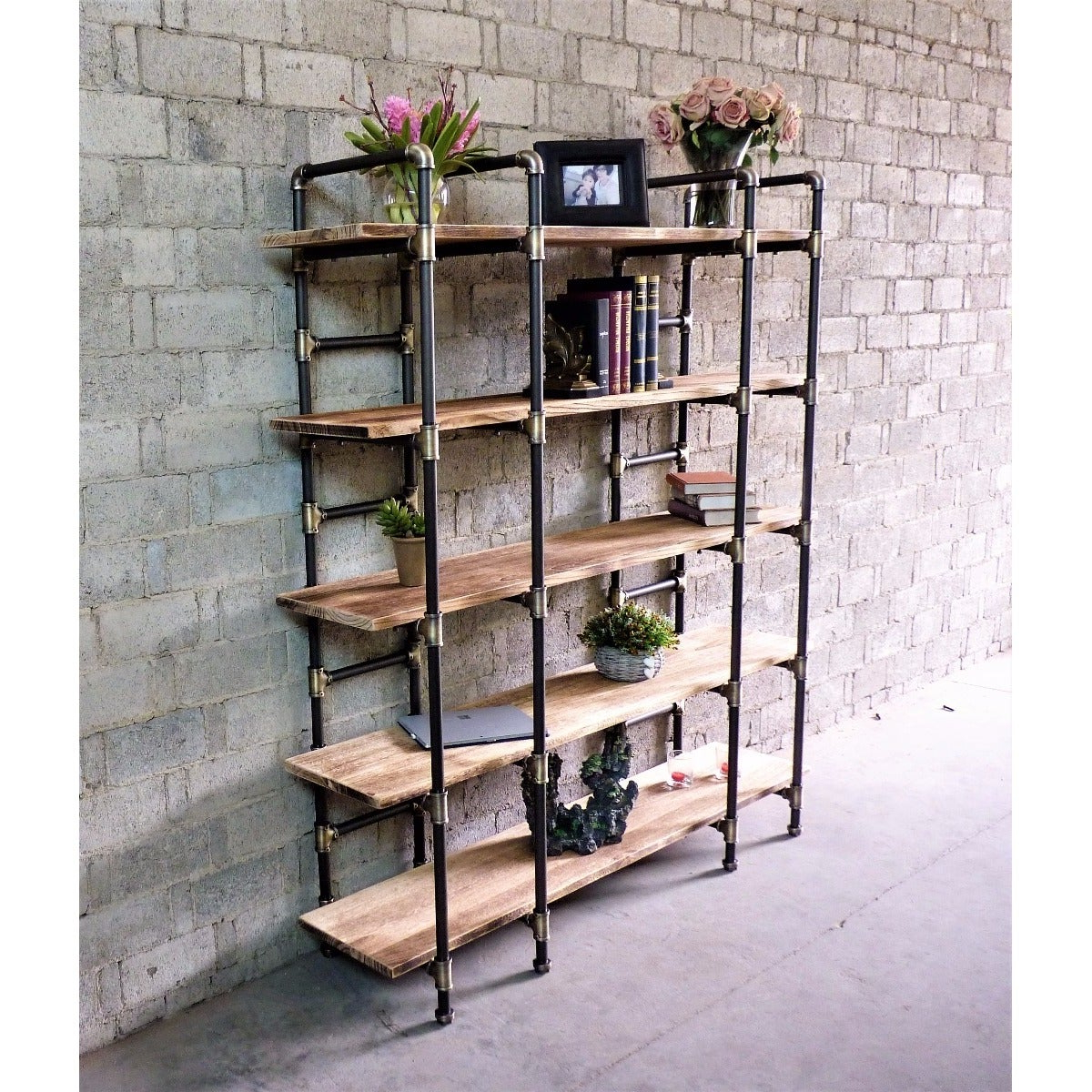 Champney Modern Etagere Bookcases For Preferred Manhattan Modern Industrial Etagere Bookcase (View 5 of 20)