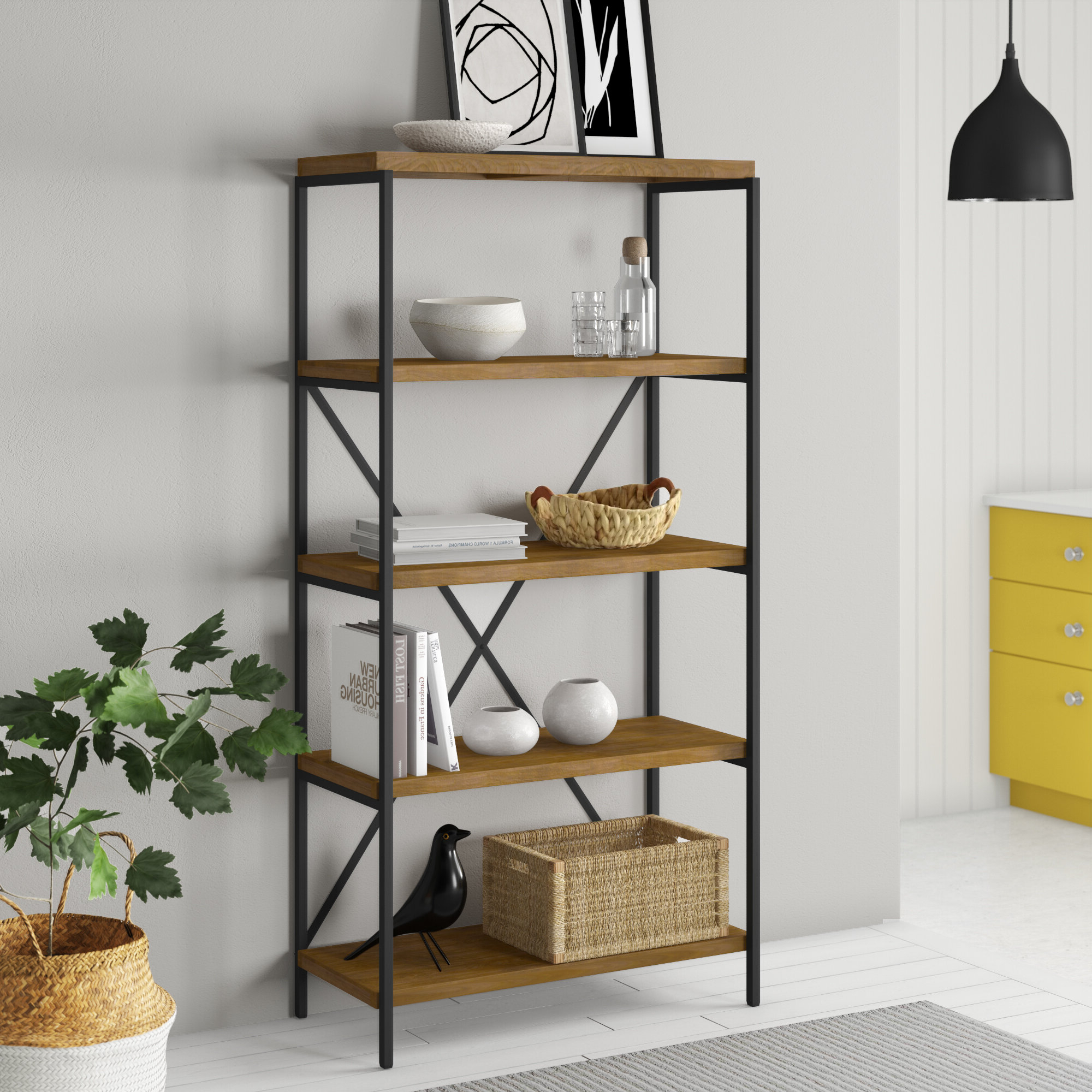 Champney Modern Etagere Bookcases Within Trendy Champney Etagere Bookcase (View 9 of 20)