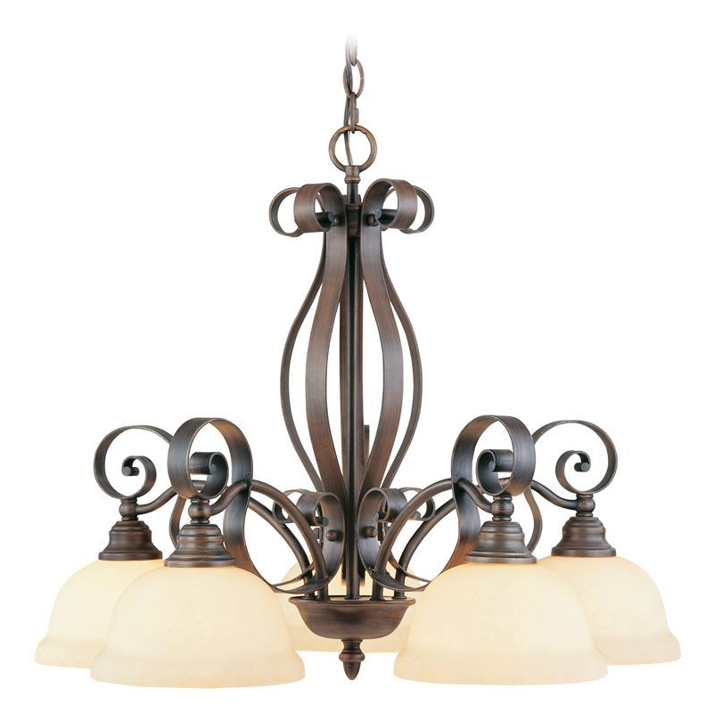 Chandelier Lighting, Livex Pertaining To Gaines 5 Light Shaded Chandeliers (Gallery 7 of 25)