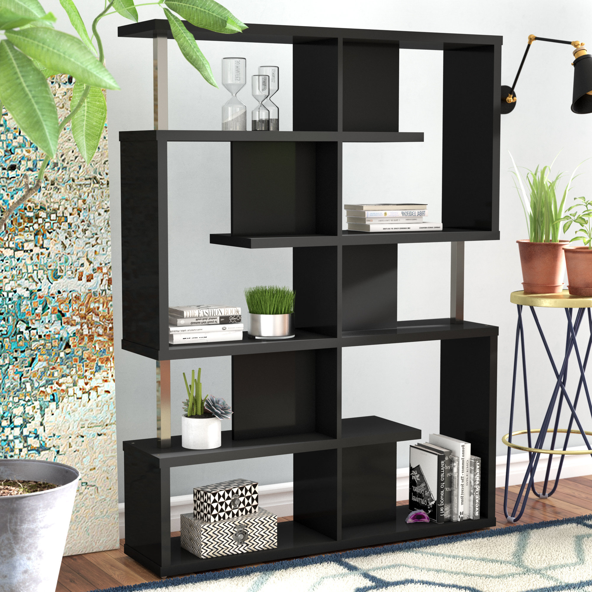 Featured Photo of Chantilly Geometric Bookcases