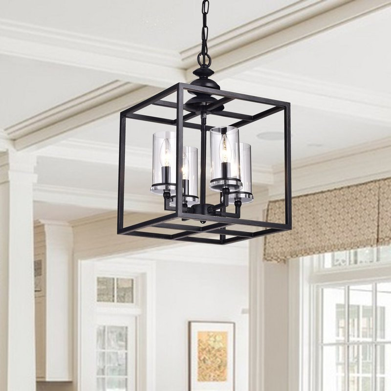 Cheverton 4 Light Square/rectangle Chandelier Within Preferred Ellenton 4 Light Rectangle Chandeliers (Gallery 2 of 25)