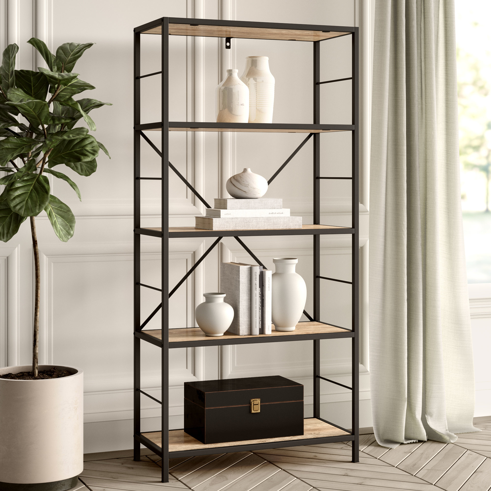 Chrysanthos Etagere Bookcases For Most Recent Round Etagere (Gallery 17 of 20)