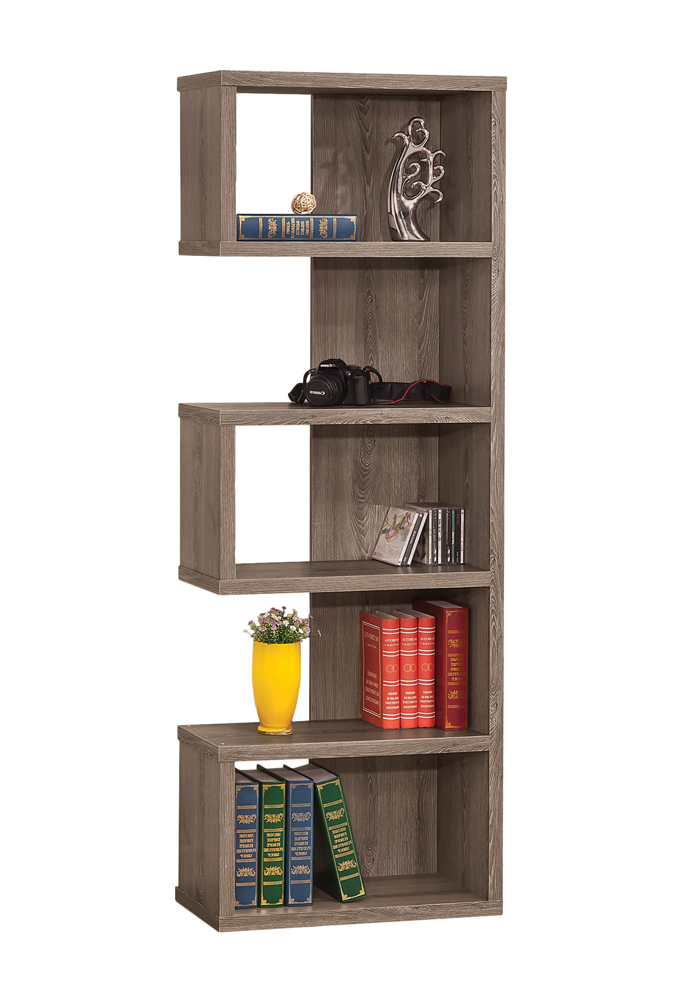 Chrysanthos Geometric Bookcase (View 7 of 20)