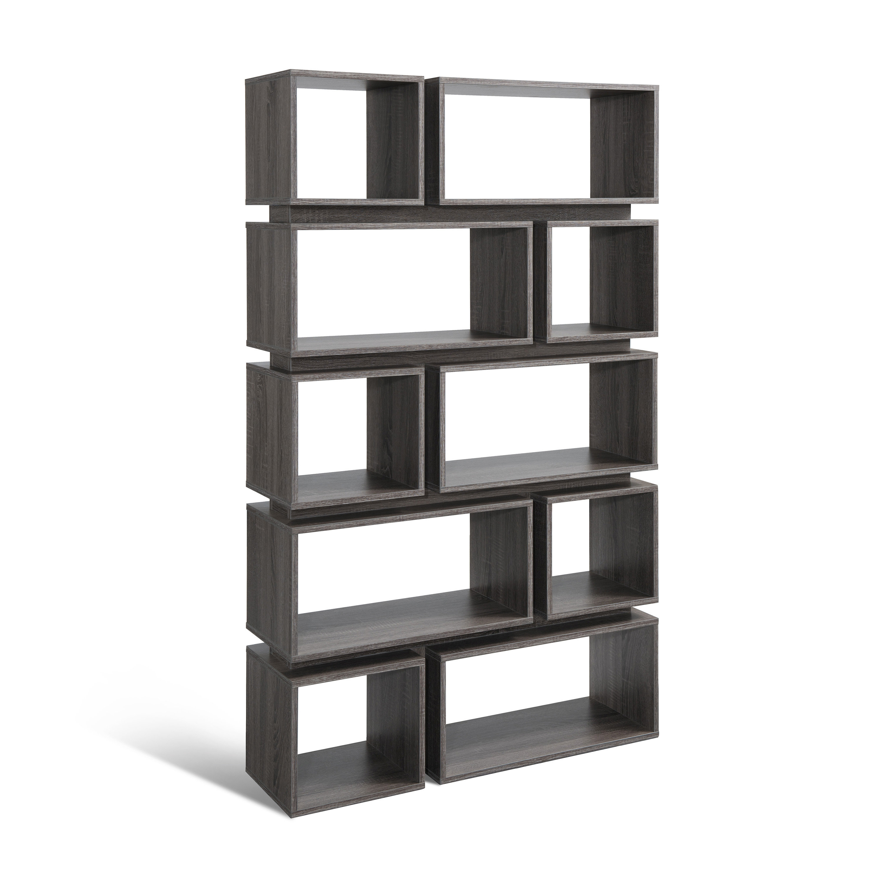 Chrysanthos Geometric Bookcase (Gallery 5 of 20)