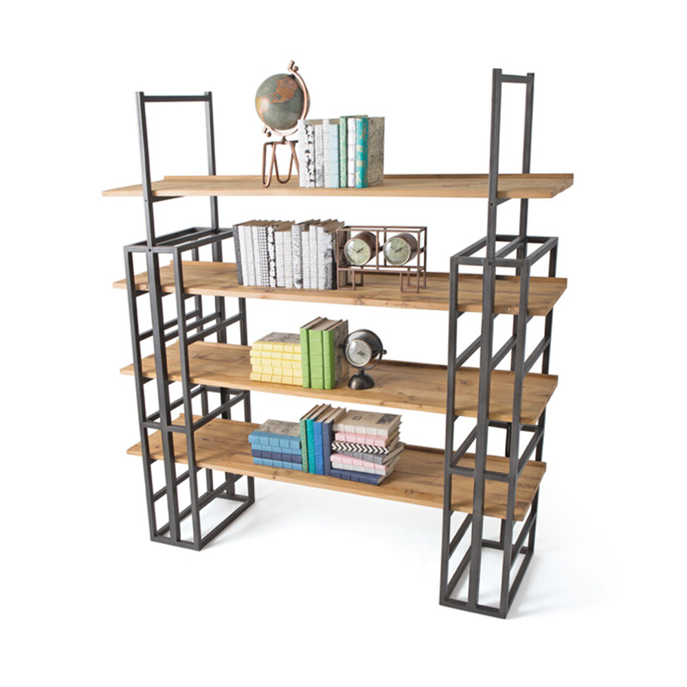 Cifuentes Dual Etagere Bookcases Within Fashionable Johns 4 Tiered Etagere Bookcase (View 7 of 20)
