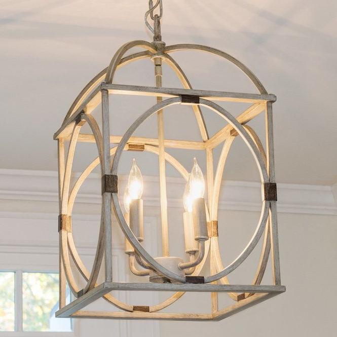 Circle Lattice Hanging Lantern – 4 Light (View 2 of 25)