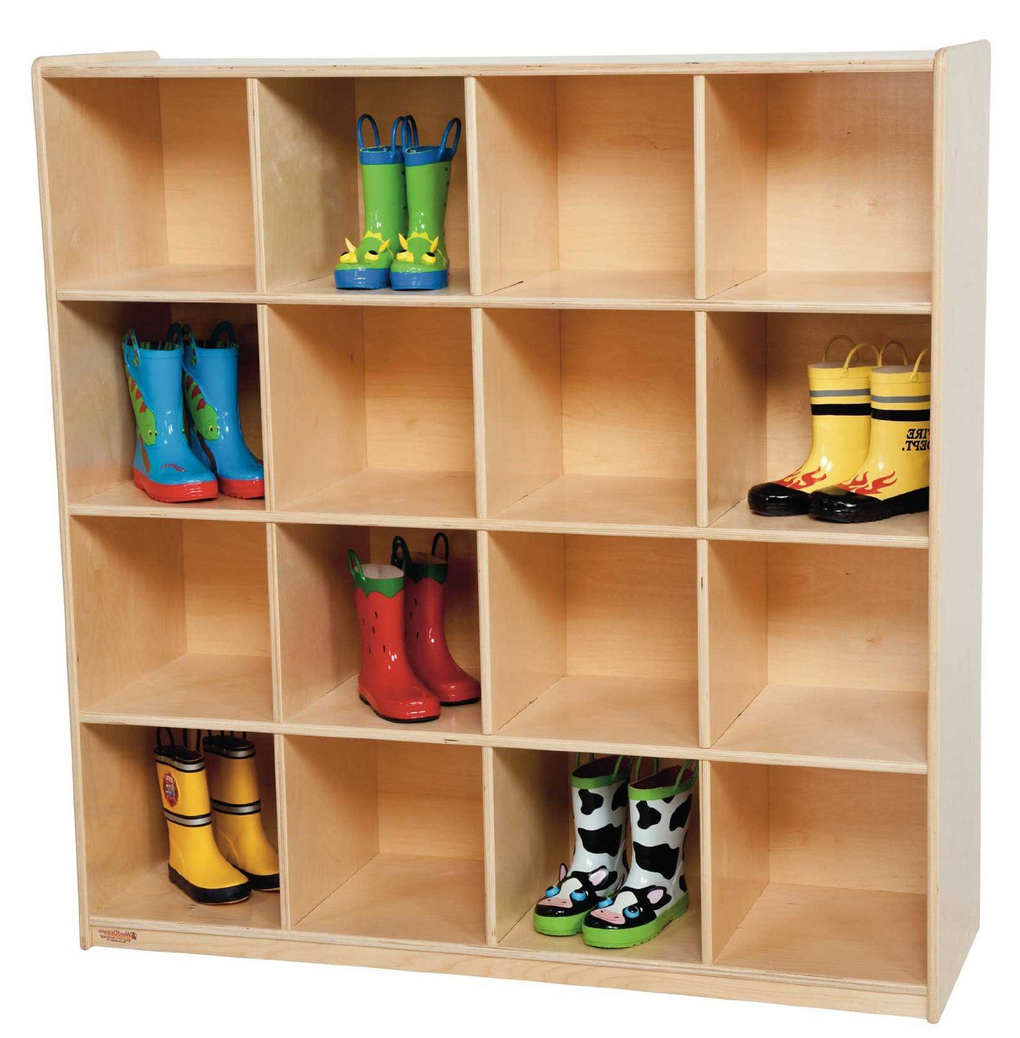 Classroom Cubby Standard Bookcases With Regard To 2020 Amazon: Wood Designs Wd50916 (16) Big Cubby Storage, 49 (Gallery 20 of 20)