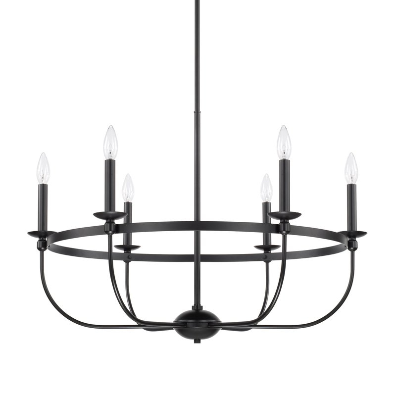 Claughaun 6 Light Candle Style Chandelier With Popular Shaylee 6 Light Candle Style Chandeliers (View 13 of 25)