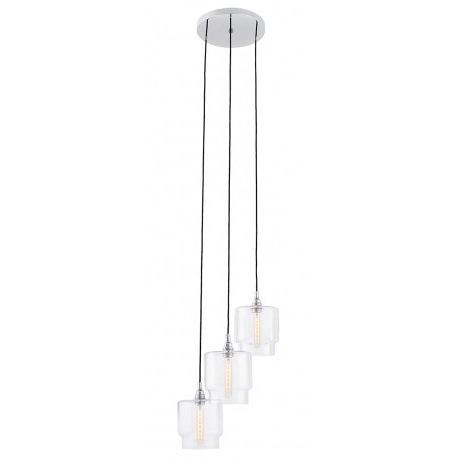 Clea 3 Light Crystal Chandeliers With Regard To Well Known Clea 3 Plafond Pendant Lamp Transparent – Kolorowekable.pl (Gallery 21 of 25)
