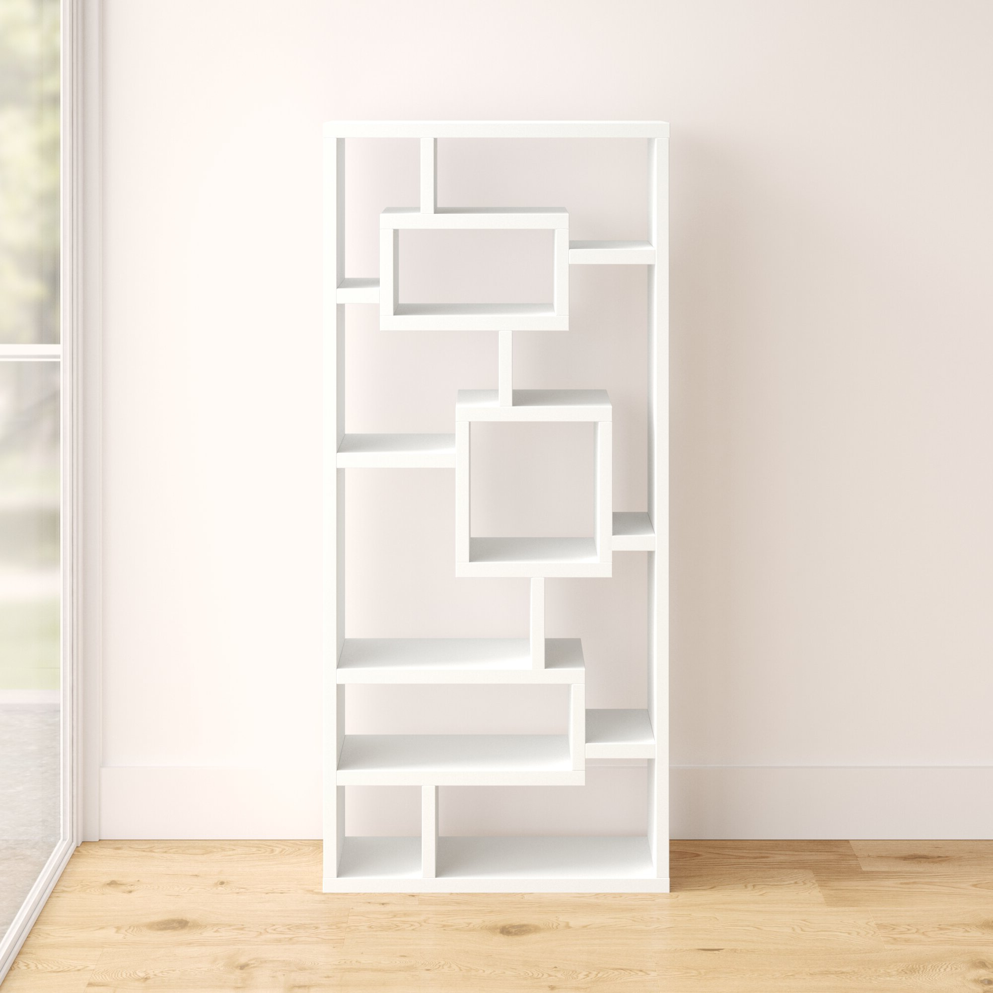 Cleisthenes Geometric Bookcase In Well Known Bostic Geometric Bookcases (Gallery 3 of 20)