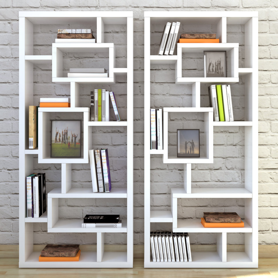 Cleisthenes Geometric Bookcase Inside Newest Bostic Geometric Bookcases (View 7 of 20)