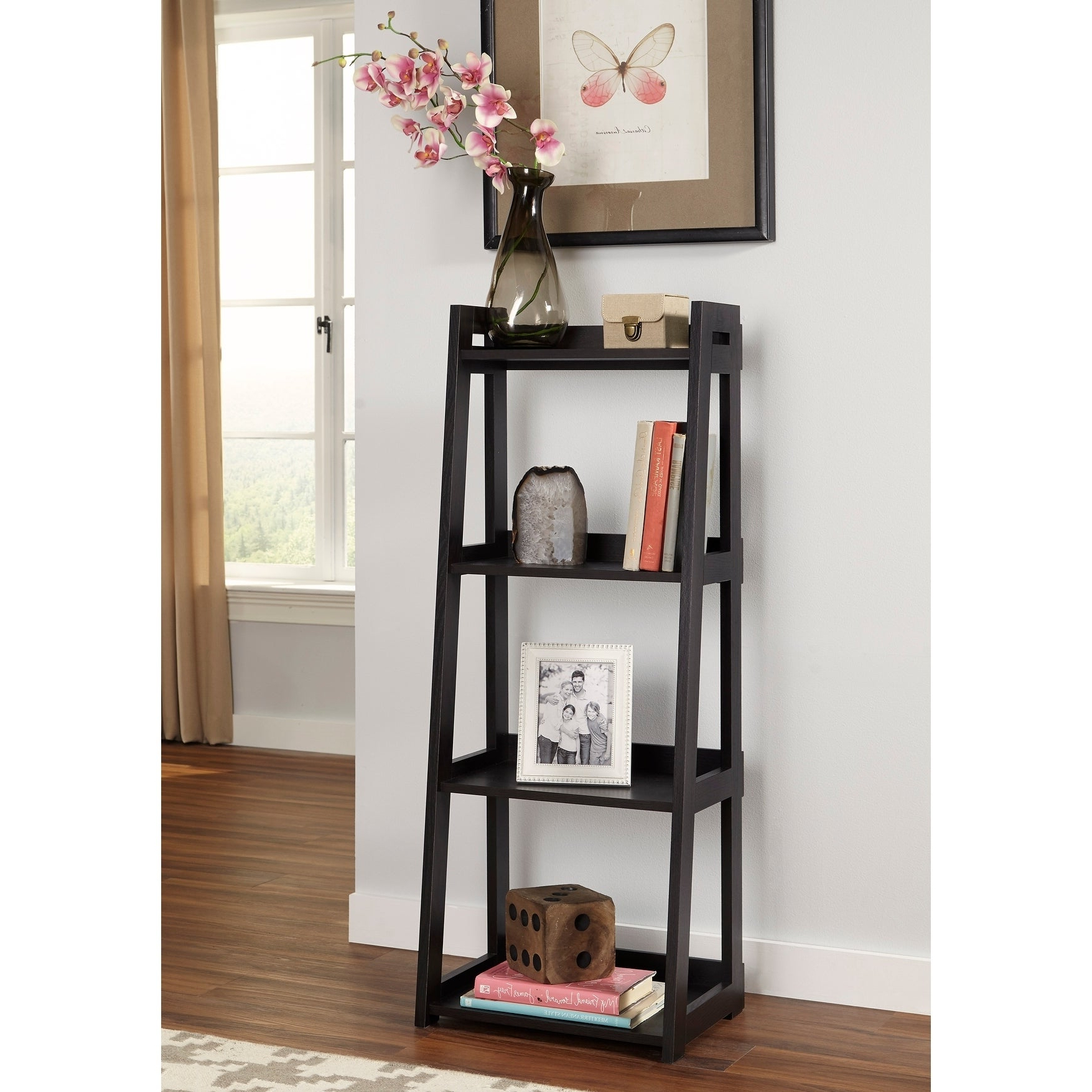 Closetmaid No Tool Assembly Narrow 4 Tier Ladder Shelf Within 2019 Narrow Ladder Bookcases (View 5 of 20)