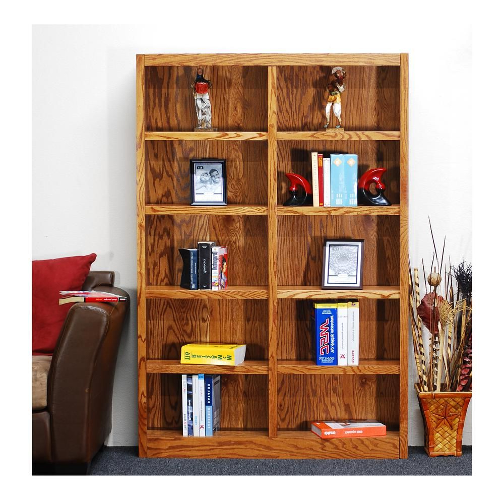 Concepts In Wood Midas Double Wide 10 Shelf Bookcase In Dry Throughout Widely Used Reynoldsville Standard Bookcases (View 12 of 20)