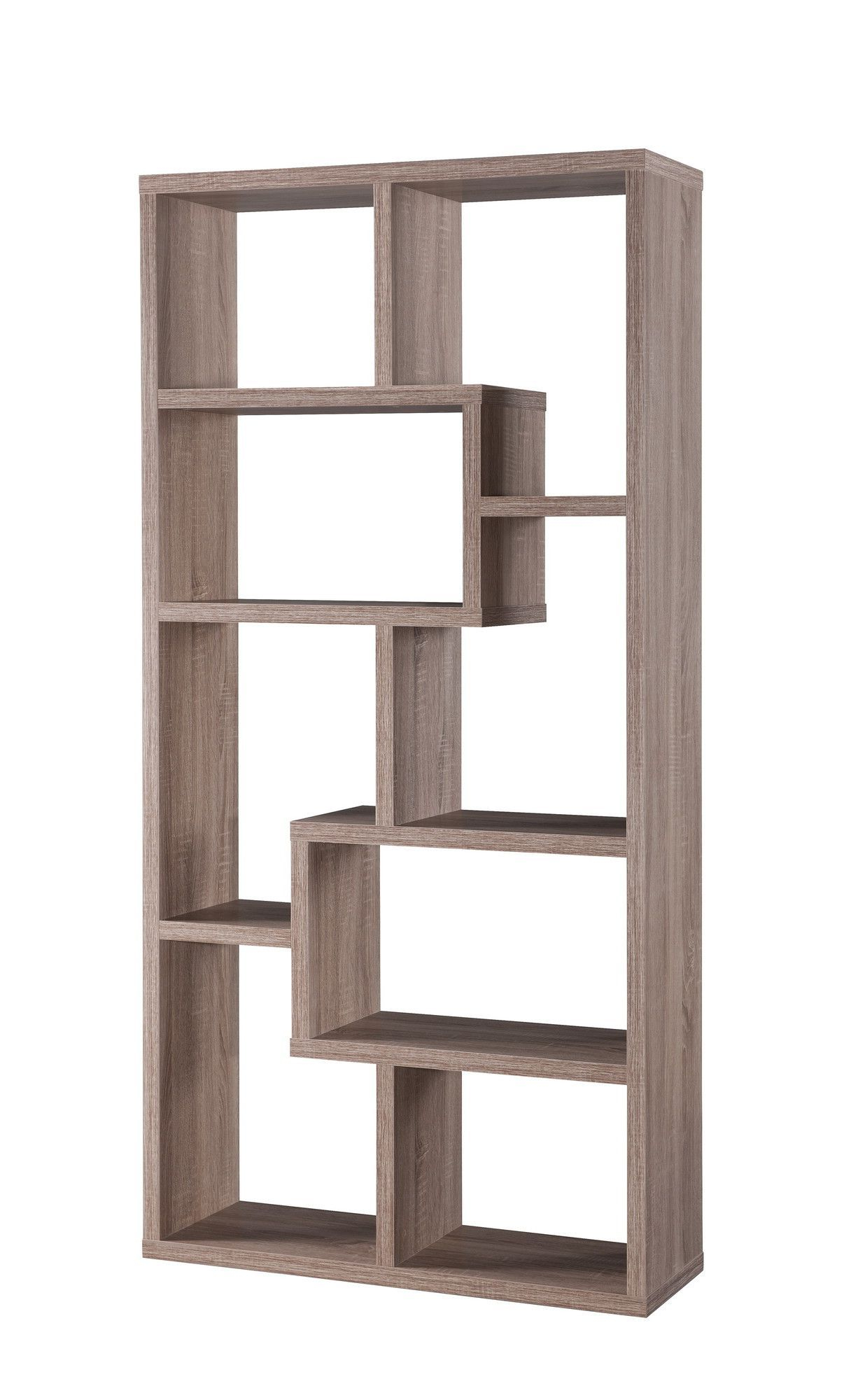 Contemporary Bookcase With Regard To Ansley Geometric Bookcases (View 5 of 20)