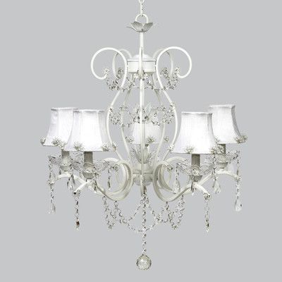 Corneau 5 Light Chandeliers Intended For Well Known Jubilee Collection Grace 5 Light Shaded Chandelier In (View 23 of 25)