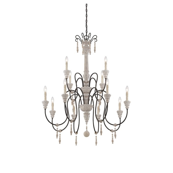 Corneau 5 Light Chandeliers Within Most Up To Date Corneau 12 Light Chandelier (View 4 of 25)