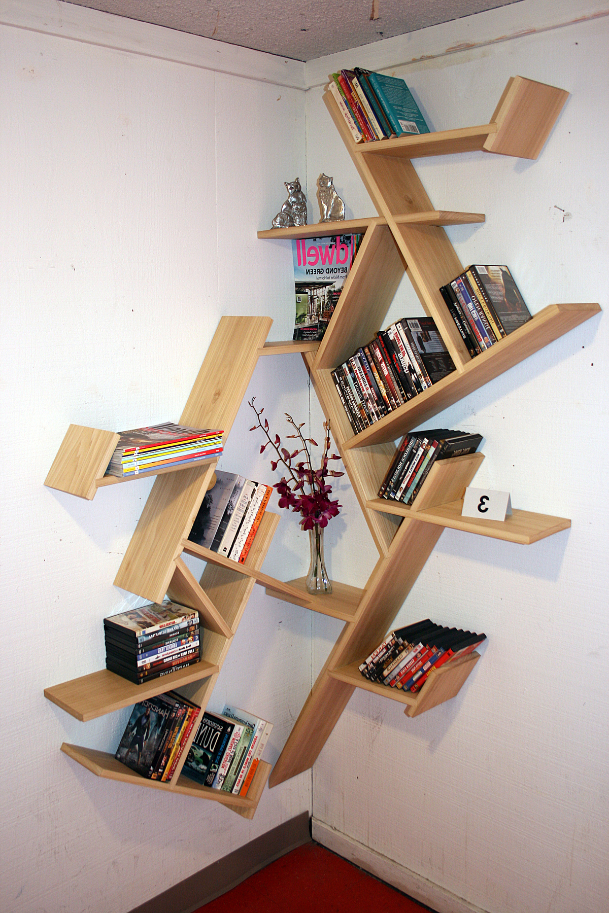 Corner Bookcases By Hokku Designs In 2019 Corner Furniture Design Living Room Corner Bookcasehokku (View 6 of 20)