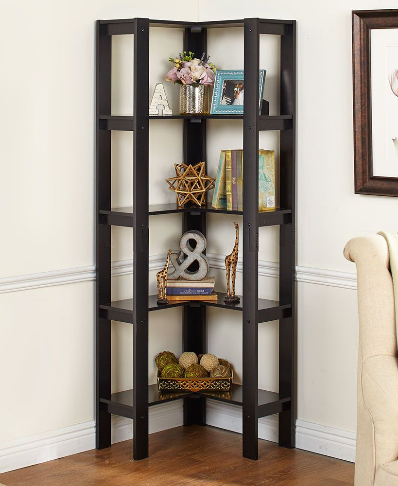 Corner Bookcases By Hokku Designs Within Newest L Shaped Corner Shelving Units (View 11 of 20)