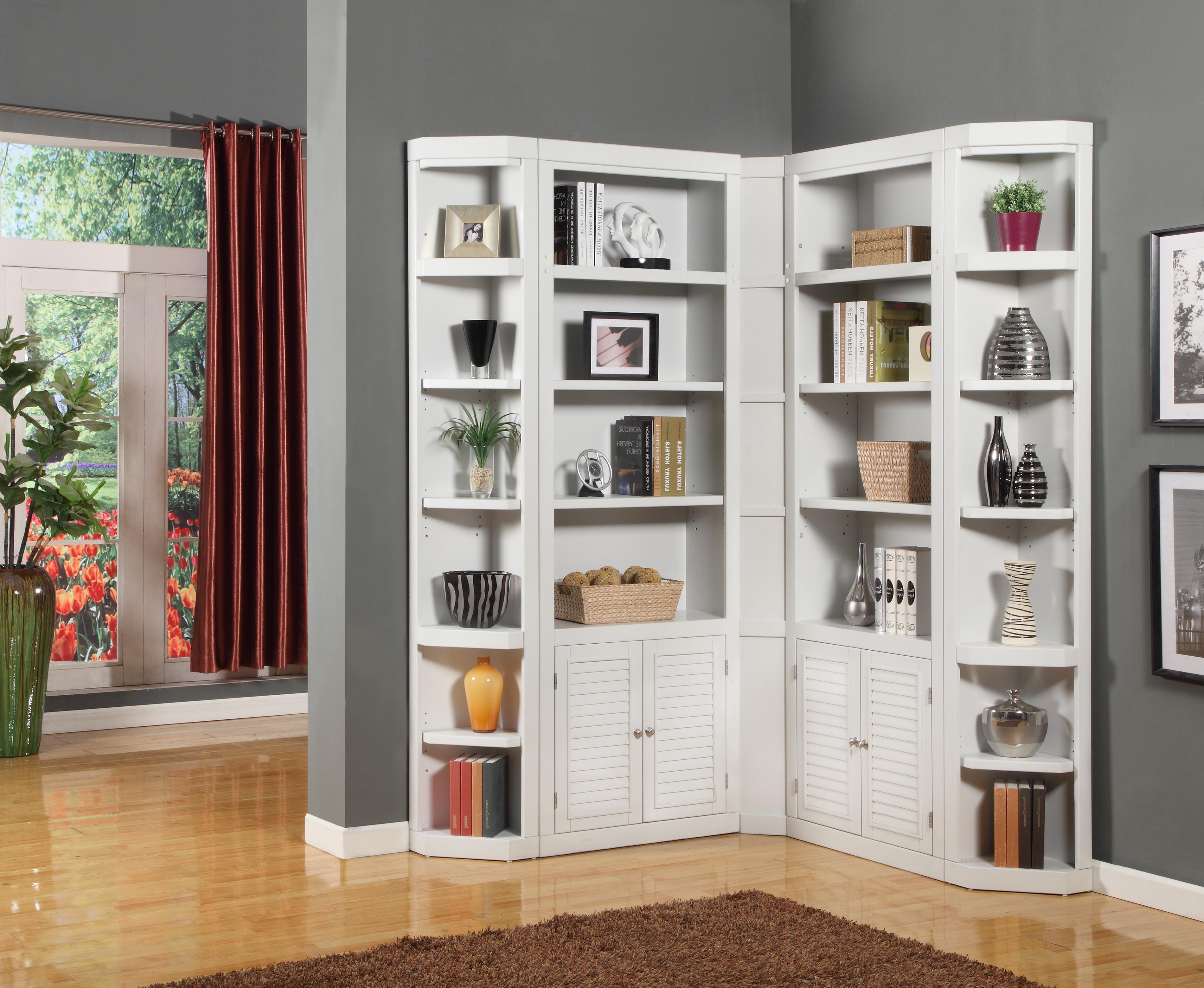 Corner Unit Bookcases Pertaining To Well Liked Boca Corner Bookcase Unitparker House At Belfort Furniture (Gallery 1 of 20)