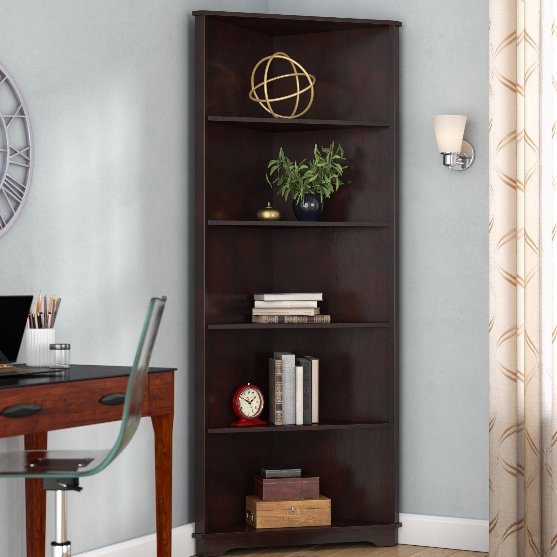 Corner Unit Bookcases Within Well Liked Tauranac Corner Bookcase (View 3 of 20)